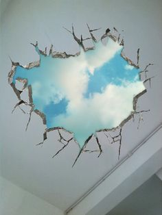 Longing for the sky ------3D Surreal Creative painting,Wall stickers, floor stickers, and a variety of wall stickers
