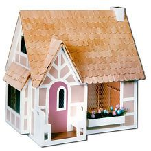 """Sugarplum Dollhouse: This could be made into a 'Witches Cottage"""" with a little imagination:)"""