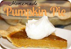 Homemade Pumpkin Pie {with homemade pie crust!} | KingdomFirstMom.com #thanksgiving #pumpkin #recipes
