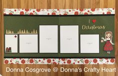 Christmas layout featuring Close to My Heart Treeline and I love Christmas Thincuts, Paper Doll Stamp set/Thincuts and Beary Christmas paper collection. Created by Donna Cosgrove CTMH Manager