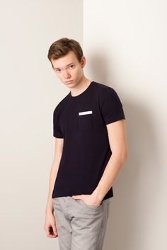 Tshirt Pocket Biais noir