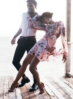 ASAP Rocky, Chanel Iman, and the Best Date Night Dresses Vogue US Sept 2014
