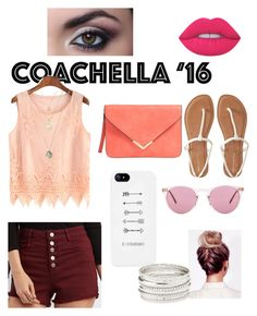 """""""Coachella '16"""" by sunglassesforstyle ❤ liked on Polyvore featuring Refuge, Aéropostale, Oliver Peoples, Charlotte Russe and Lime Crime"""