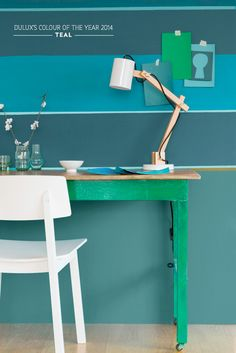 Teal home office
