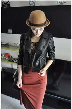 32df56ebab1 Women s Motorcycle Leather Diagonal Zipper Short Jacket Save up to Off at  Light in the Box with Coupon and Promo Codes.