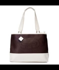 Coach Hamptons Weekend Perforated Medium Coffee Totes AGC Makes You More Beautiful And Elegant, Come Here To Buy One!