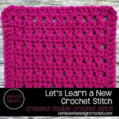 Crossed Double Crochet Stitch - Photo Tutorial & Free Pattern for an 8x8 Inch Square #freepattern #afghan #tutorial
