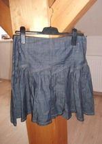 Trendy sukně z lehké džínoviny
