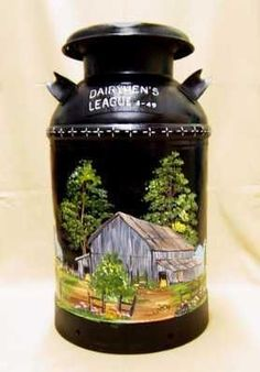 Image result for Painted Milk Cans