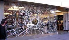 Apple store window