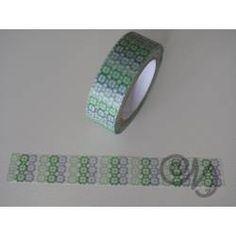 Masking Tape grün-grau gemustert