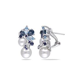 Another great find on #zulily! Gemstone & Pearl Cluster Stud Earrings #zulilyfinds