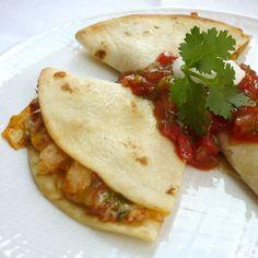 Chicken Quesadillas with Smoky Tomato Salsa