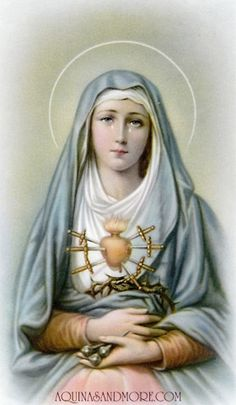 The Seven Sorrows of Mary may be prayed like a rosary, with seven mysteries, each seven Hail Mary's long.