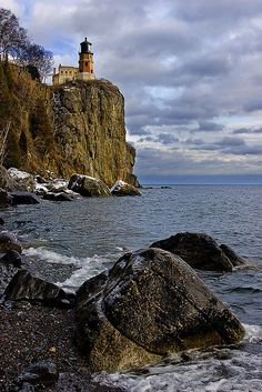 Split Rock Lighthouse, Minnesota. My favorite lighthouse. I never miss a chance to see it on our visits to the North Shore.