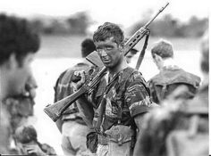 After the firefight. The face of close quarter combat. By late war RLI troopies could be in action several times a day. Military Art, Military History, Close Quarters Combat, Warrior Quotes, Ol Days, Special Forces, Cold War, Armed Forces, Warfare