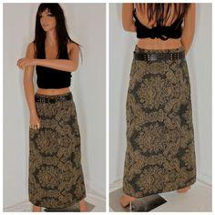 70's paisley maxi skirt  sze 7 / 8  1970's by EleanorFayesFashion