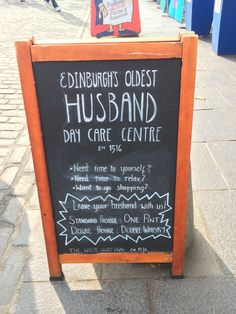 A witty A-board outside a pub in Edinburgh - Imgur