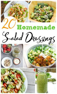 Have you ever made your favorite salad dressing from scratch? Here are 20 healthy, homemade salad recipes to try and keep on hand for your next salad craving.