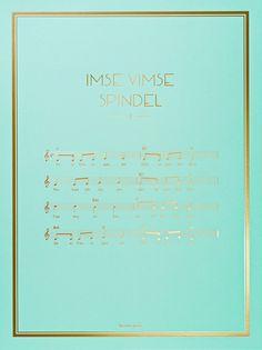 The Note Poster – Imse Vimse Spindel
