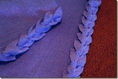 17 best fleece throw images on pinterest fleece blankets fleece no sew fleece blanket edging for linus project ccuart Images