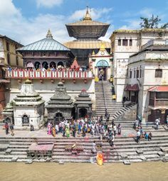 The Temple from the Bagmati River side. Pashupatinath, Nepal.  http://www.marisabascope.com #travelphotography #nepal #travelphoto