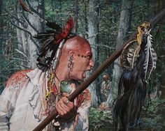 Native Americans are subjects for artists Howard Terpning, James Bama, Bev Doolittle, John Buxton and others. Native American Ancestry, Native American Warrior, Native American Paintings, Native American Images, American Indian Art, Native American History, Native American Indians, Indian Paintings, Native Indian