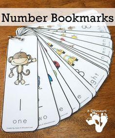 Free Number Bookmarks - Numbers 1 to 20 - 3Dinosaurs.com