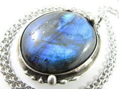 the blue giant  large labradorite crystal by callistojewelry