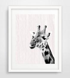 Giraffe Print Giraffe wall print Giraffe wall art by Ikonolexi