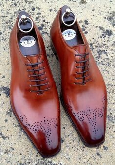 Two shade, brown polished leather-- Elegance