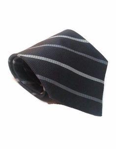 """Check out #GeoffreyBeeneTie #SilkNecktie Gray Striped Design 58""""x3.75"""" #GeoffreyBeene #Necktie #Tie #Ties"""