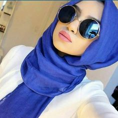 blue mirror sunglasses with hijab