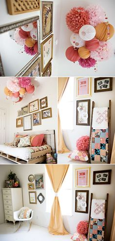 love the hanging paper crafts