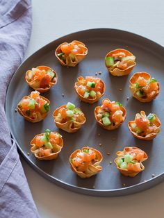 Salmon Tartare in Baked Wonton Cups w/Cukes, Scallions, Sesame Oil, Soy Sauce & Ginger: Decorating : Home & Garden Television