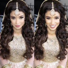 Makeup by the talented @shanarabeauty  Jewellery by @kylescollection  #hair #hairstyle #hairstyles #hairstyling #bride #makeup #indianwedding