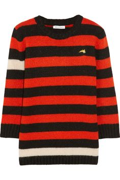 How Fashion Girls Made Varsity Stripes A Thing #refinery29  http://www.refinery29.com/2014/10/75710/alexa-chung-bella-freud-stripe-sweater#slide2