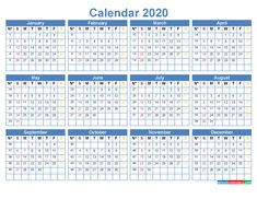 Free Printable 2020 Monthly Calendar with Holidays – Plan your year, month, week and day with holidays & events calendar