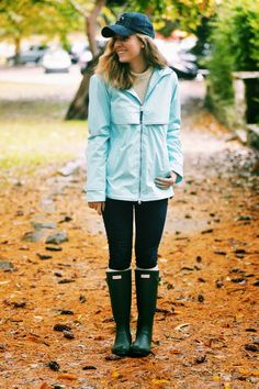Fall Preppy Outfit: Hunter Boots & Southern Proper