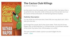 The Cactus Club Killings gets listed on BookBub and cracks Kindle's top hundred. Cactus, Flora, Posts, Club, Prickly Pear Cactus, Messages