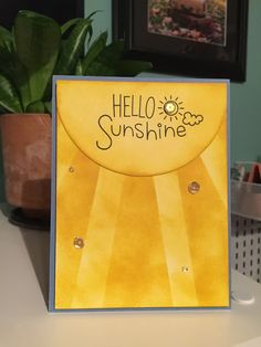 Today I have a quick share with you of this sunshine card I made using some computer paper and the I Love You More stamp set. Card Kit, I Card, Homemade Stencils, Distress Markers, Computer Paper, Wink Of Stella, Hello Sunshine, Special Birthday, Love You More