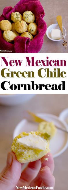 New Mexican Green Chile Cornbread | NewMexicanFoodie.com  #newyear #holidays #cornbread