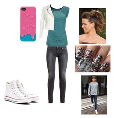 hanging out with Louis by harrystylesandliampayne on Polyvore featuring polyvore, beauty, River Island, Paige Denim and Converse