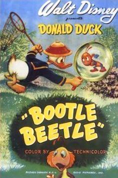 """Bootle Beetle"" 1947 Donald Duck Disney Cartoon short movie poster"