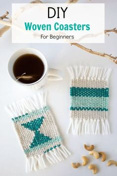 DIY Woven Coasters 2019 Make some super cute woven coasters using cardboard yarn and needle. So simple and beautiful to create. A great project for beginner weavers! The post DIY Woven Coasters 2019 appeared first on Weaving ideas.