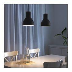 IKEA - HEKTAR, Hanglamp, donkergrijs, , De lamp geeft een aangenaam licht tijdens het eten en verspreidt een goed, gericht licht over de eettafel of de bartafel.