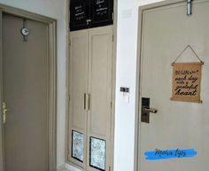 dipingere porte interne senza carteggiare Locker Storage, Kitchen Cabinets, Interior Design, Latte, Paint, Furniture, Shabby Chic, Home Decor, Houses
