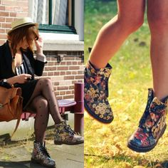 How to Chic: FLORAL DOCTOR MARTENS
