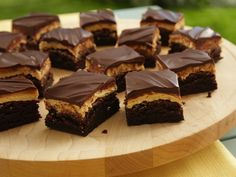 Peanut Butter Truffle Brownies   from box mix
