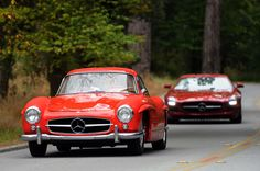 Mercedes 300SL Gull-wing and SLS AMG